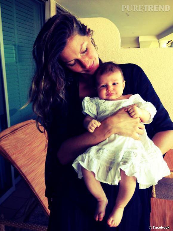 Gisèle Bundchen a enfin posté une photo de sa fille Vivian, un peu plus de deux mois après sa naissance.