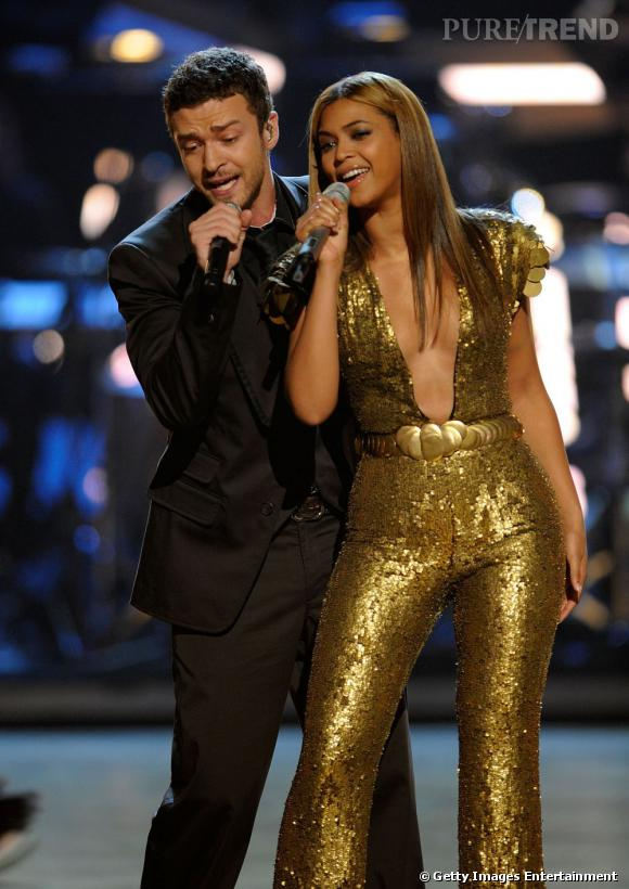 Justin Timberlake et Beyoncé Knowles bientôt ensemble sur scène pour un show très privé à Londres ? (ici photographié lors du concert Fashion Rocks en 2008)