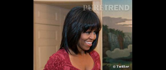 Michelle Obama est passée à la frange.