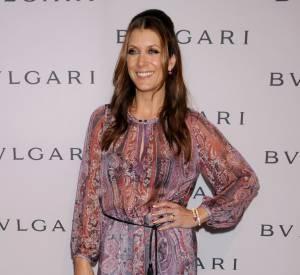 Kate Walsh à la soirée Bulgari x Elizabeth Taylor à Los Angeles porte une robe Isabel Marant.