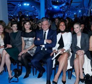 Le premier rang du défilé Christian Dior.