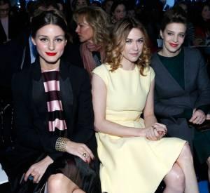 Olivia Palermo, Marie-Josée Croze et Céline Sallette chez Christian Dior.
