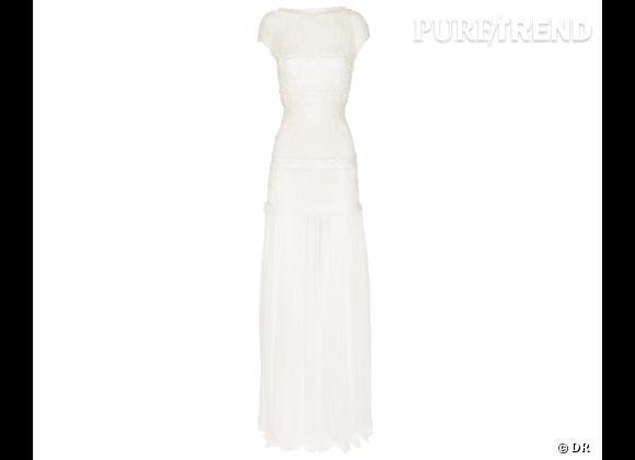 Les robes de mariée de créateur exclusives Net-a-porter.com     Robe de mariée Nina Ricci, 3800 €