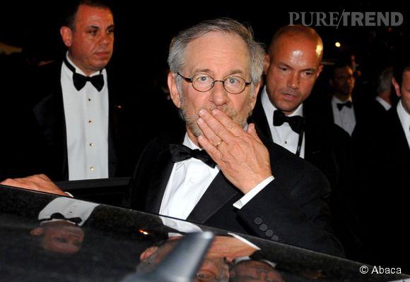Steven Spielberg sera le président du jury de la 66ème édition du Festival de Cannes. Ici, il quitte une projection lors de la 61ème édition en 2008.