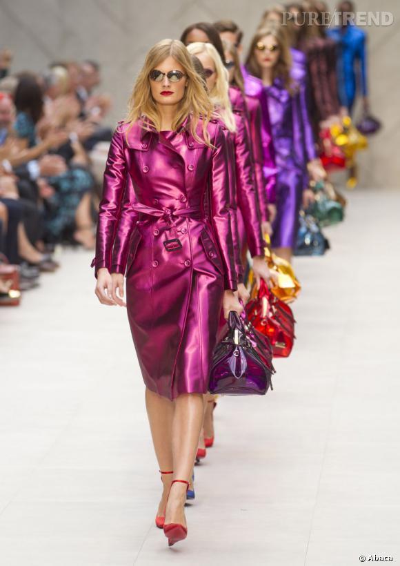 Fashion obsession : un trench coloré ce printemps comme chez Burberry Prorsum ! Défilé Printemps-Eté 2013