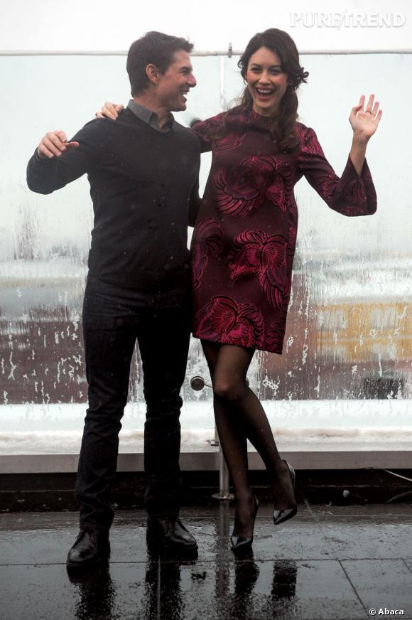 """Tom Cruise et Olga Kurylenko font la promotion d'""""Oblivion"""" : les deux acteurs sont très complices."""