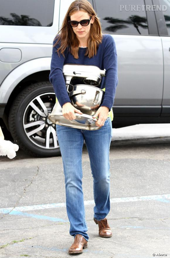 Jennifer Garner, la desperate housewife avec son mixeur.