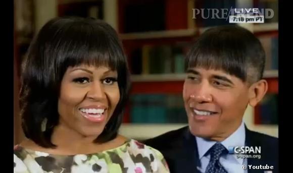 Barack Obama a lui aussi copié la frange de sa femme, Michelle.