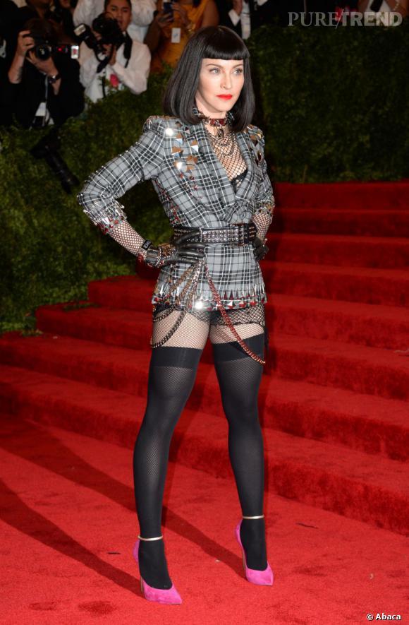 Madonna était tout à fait dans l'esprit punk du Met Ball.