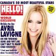 Avril Lavigne nommée la plus belle star du Canada par le magazine Hello!Canada.