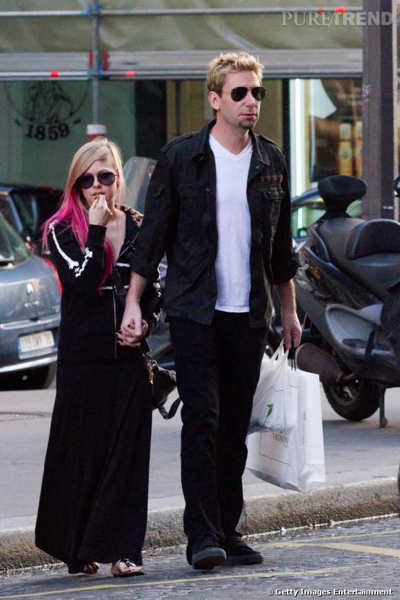Avril Lavigne s'est fiancée avec Chad Kroeger, un membre du groupe Nickelback.