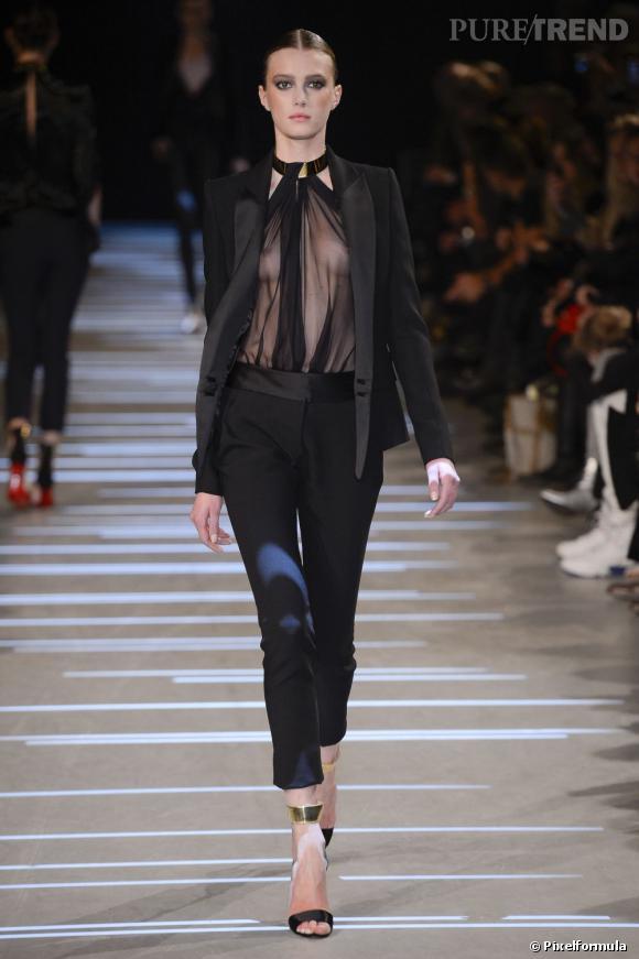 Vu sur les podiums : la tendance smoking au féminin    Alexandre Vauthier, défilé Haute CouturePrintemps-Eté 2013