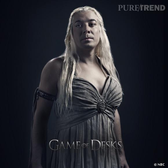 """Jimmy Fallon en Ned Stark ou en Daenerys Targaryen, vous en rêviez ? La parodie """"Game of Desks"""" est faite pour vous !"""