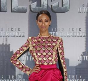 Zoe Saldana vs Liberty Ross : la mini robe drapee Balmain