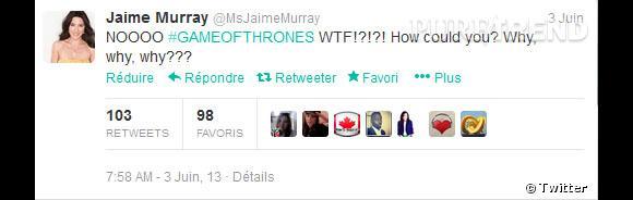 """Jaime Murray (""""Defiance"""") a une réflexion moins claire, mais très expressive !"""