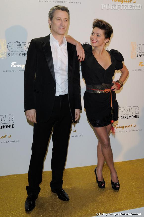 Antoine de Caunes un papa stylé avec sa fille très chic, en 2009.