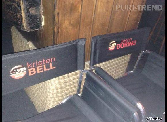 Revoir le nom de Kristen Bell et celui de Jason Dohring, côte à côte en tournage : le rêve de nombreux fans !