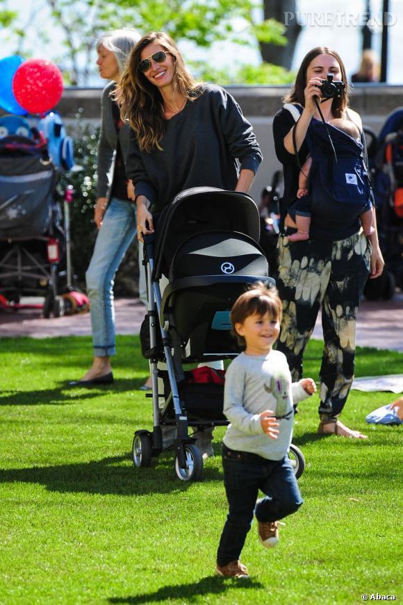 Gisèle Bundchen et ses deux enfants : Benjamin et Vivian (née en 2012).