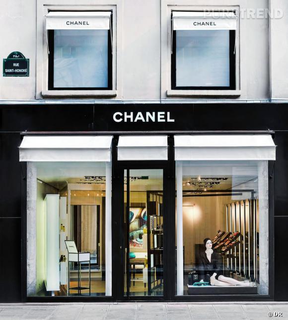 La boutique Chanel de la rue Saint Honoré.