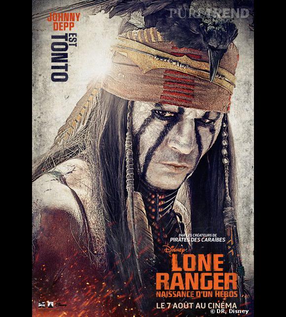 """""""Lone Ranger"""", le poster avec Johnny Depp."""