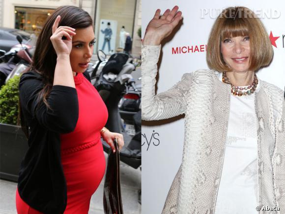 Kim Kardashian peut être fière car Anna Wintour a approuvé le prénom de son bébé, North.