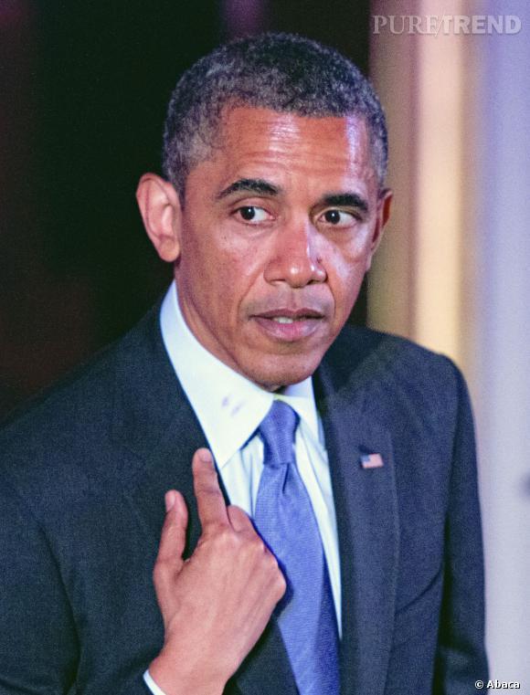 Barack Obama avait beaucoup amusé avec l'histoire du rouge à lèvres sur son col !