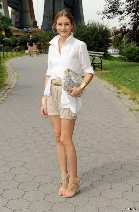 Olivia Palermo, casual mais tellement tendance à New York.
