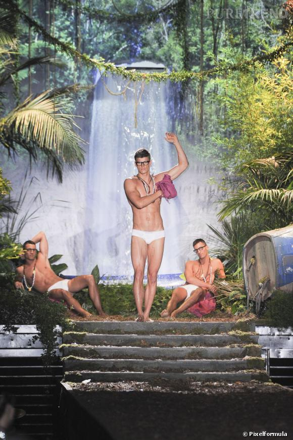 Le jardin d'Eden de Dsquared² pour son défilé Printemps-Été 2014 Homme.