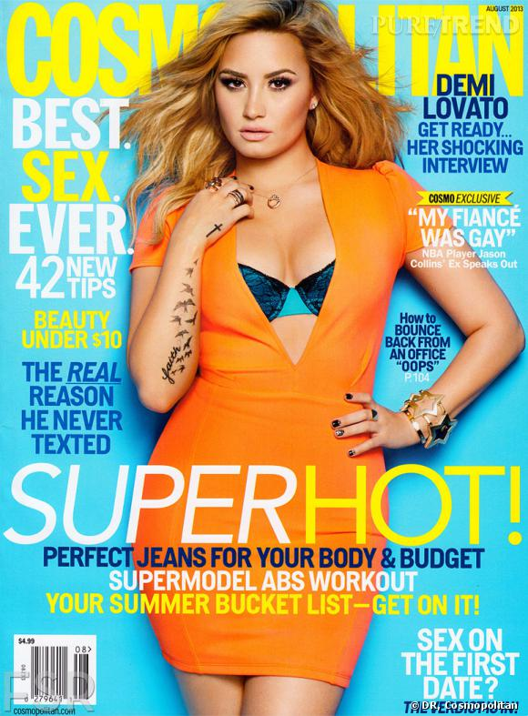 Et voilà, le résultat ! C'est une autre photo qui fait la couverture, mais Demi Lovato est tout aussi sexy.