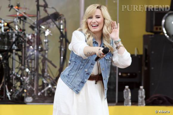 """Demi Lovato à un concert """"Good Morning America""""."""