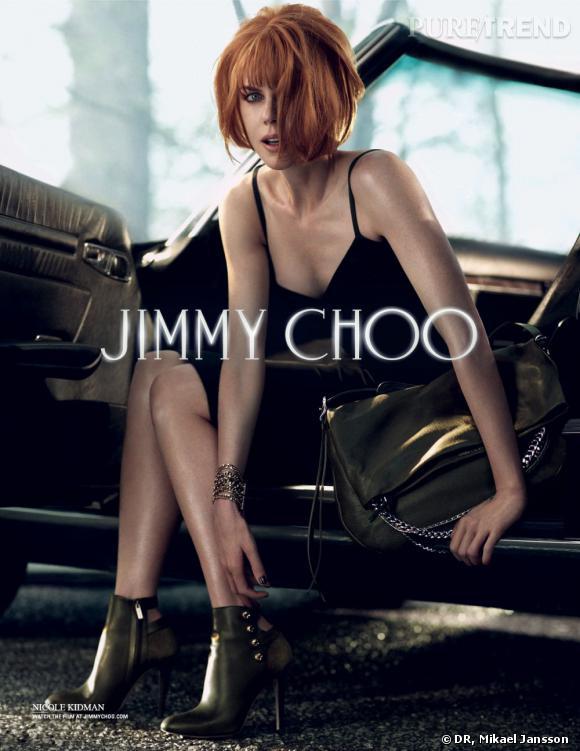 Nicole Kidman, séduisante et sexy dans la denière campagne Automne-Hiver 2013/2014 de Jimmy Choo.