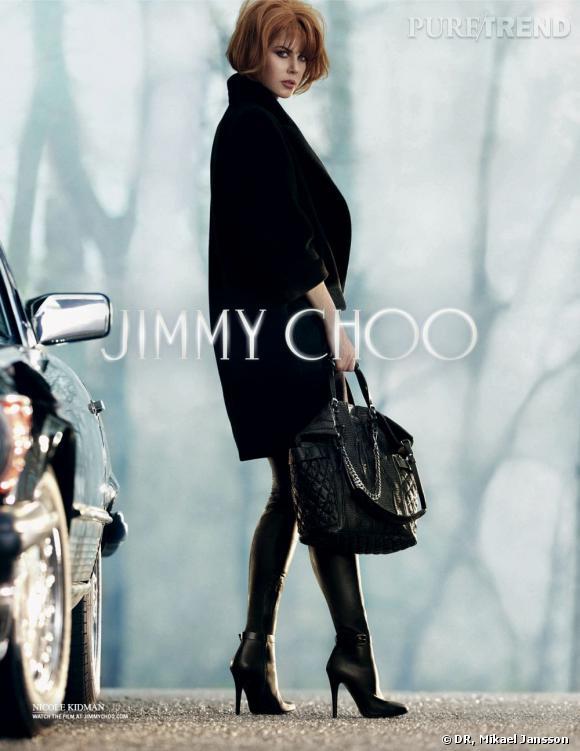 Nicole Kidman chausse les cuissardes pour Jimmy Choo.