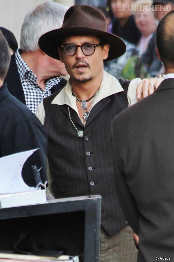 Johnny Depp se rendant à l'émission de Jimm Kimmel cette semaine.