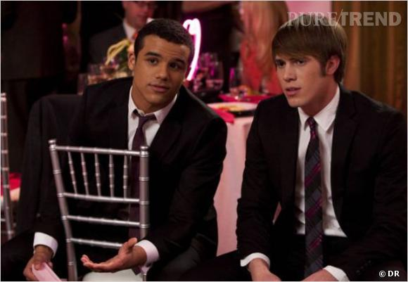 """Jake et Ryder, rivaux dans la série """"Glee""""."""