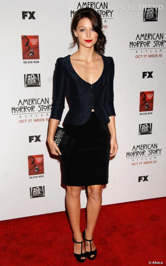 "Melissa Benoist lors de l'avant-première d'""American Horror Story : Asylum""."