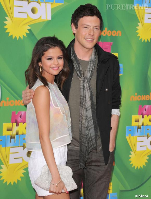 Selena Gomez et Cory Monteith lors des Kid's Choice Awards en avril 2011