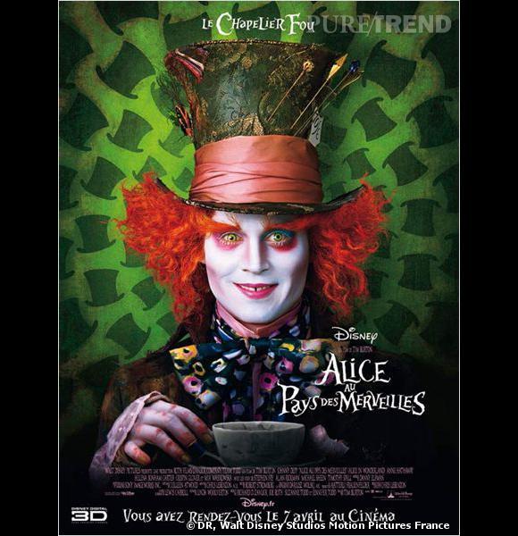 """Johnny Depp dans """"Alice au pays des merveilles 2"""", un contrat sur le point d'être signé."""