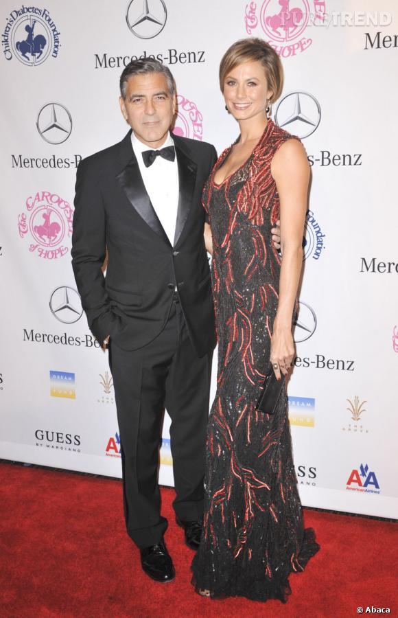"""Stacy Keibler s'exprime sur sa rupture avec George Clooney : """"rien de dramatique, tout va bien""""."""
