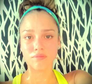 Jessica Alba, zero complexe : sans maquillage et apres le sport