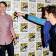 "Dane DeHaan et Andrew Garfield pour ""The Amazing Spiderman 2"" au Comic-Con 2013."