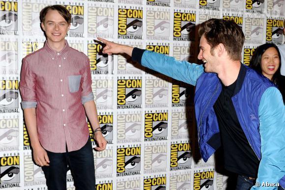 "Dane DeHaan et Andrew Garfield pour ""The Amazing Spiderman 2"" au Comic-Con 2013."