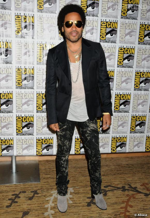 "Lenny Kravitz pour ""Hunger Games Catching Fire"" au Comic-Con 2013."
