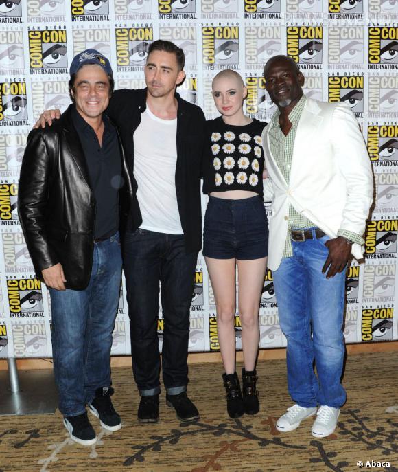 """L'équipe du film """"Guardians of the Galaxy"""" au Comic-Con 2013."""