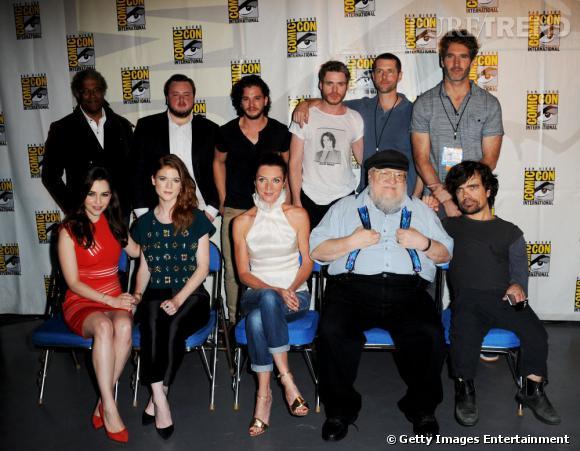 """L'équipe de """"Game of Thrones"""" au Comic-Con 2013."""