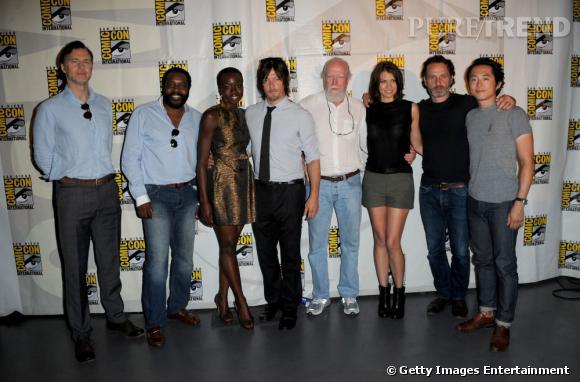 """Le casting de The Walking Dead"""" au Comic-Con 2013."""