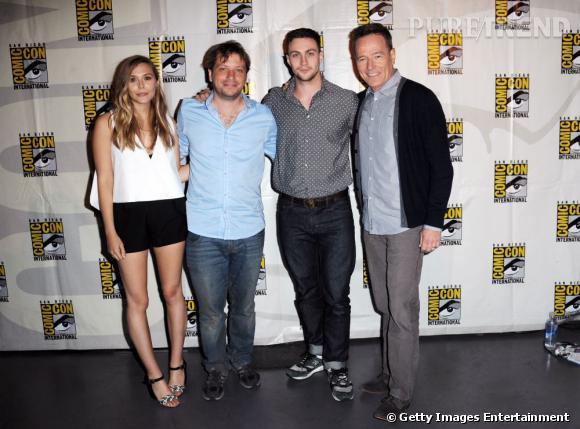"L'équipe du film ""Godzilla"" au Comic-Con 2013."