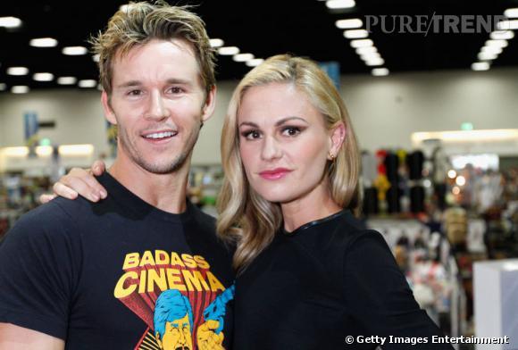 """Ryan Kwanten et Anna Paquin de """"True Blood"""" au Comic-Con 2013 de San Diego."""
