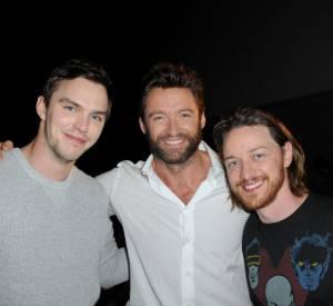 """Nicholas Hoult, Hugh Jackman et James McAvoy de """"X-Men"""" au Comic-Con 2013."""