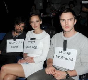 Peter Dinklage, Jennifer Lawrence et Nicholas Hoult au Comic-Con 2013.