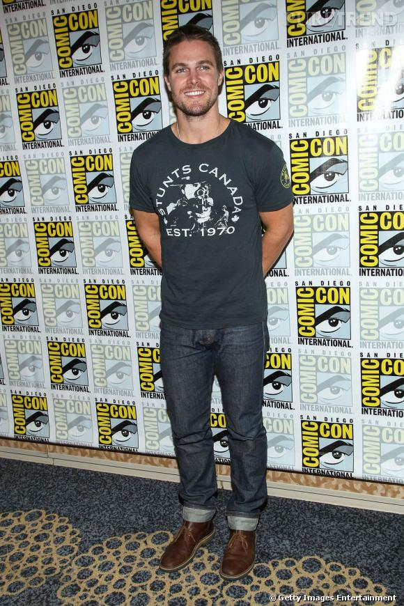 "Stephen Amell de la série ""Arrow"" au Comic-Con 2013."